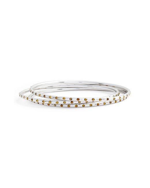 Sole Society - Metallic Set Of 3 Crystal Embellished Bangles - Lyst