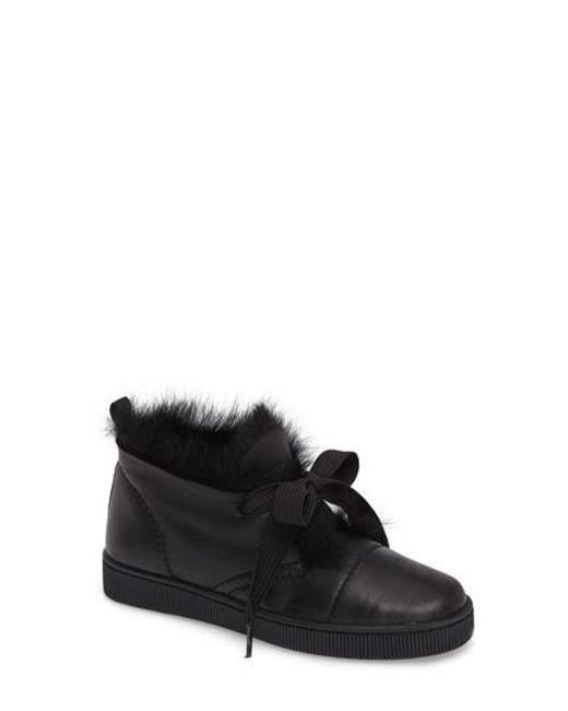 Pedro Garcia | Black Parley Genuine Shearling & Leather Sneaker | Lyst