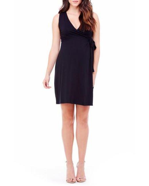 Ingrid & Isabel | Black Ingrid & Isabel Sleeveless Wrap Maternity Dress | Lyst