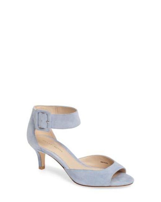 Pelle Moda | Blue 'berlin' Ankle Strap Sandal | Lyst