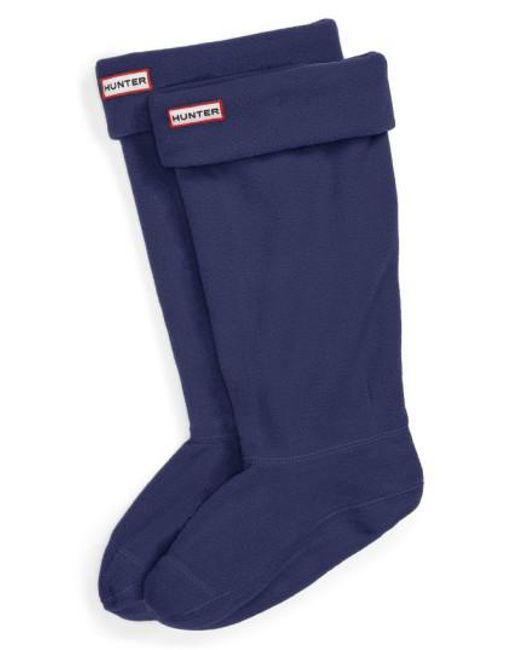 Hunter | Blue Original Tall Fleece Welly Socks | Lyst