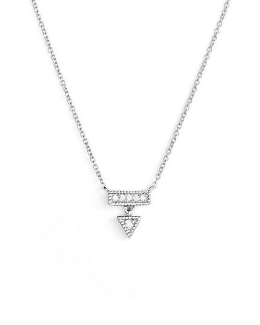 Dana Rebecca - Metallic Emily Sarah Diamond Triangle Dangle Necklace - Lyst