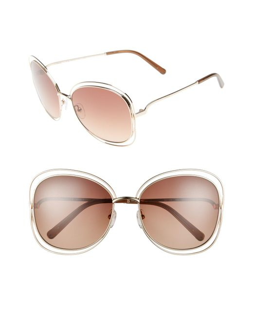 Chloé - Brown Carlina 60mm Gradient Les Sunglasses - Lyst