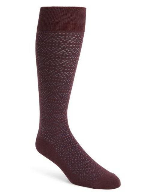 Calibrate - Purple Plaited Triangle Socks for Men - Lyst