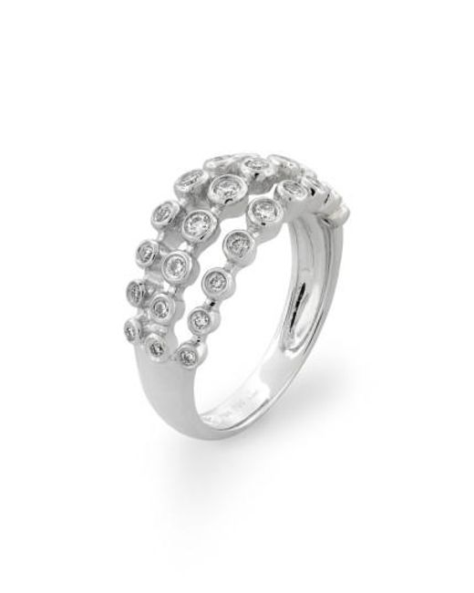 Bony Levy | White Amara Three-row Bezel Diamond Ring (nordstrom Exclusive) | Lyst