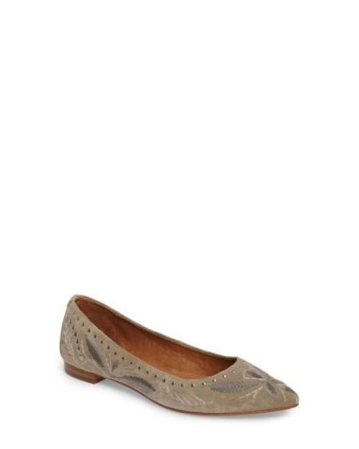 Frye | Multicolor Sienna Embroidered Ballet Flat | Lyst