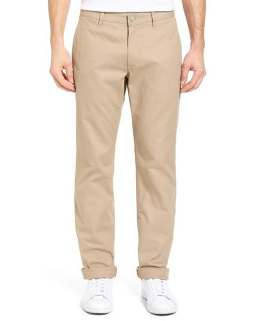 Bonobos | Brown Straight Fit Washed Chinos for Men | Lyst