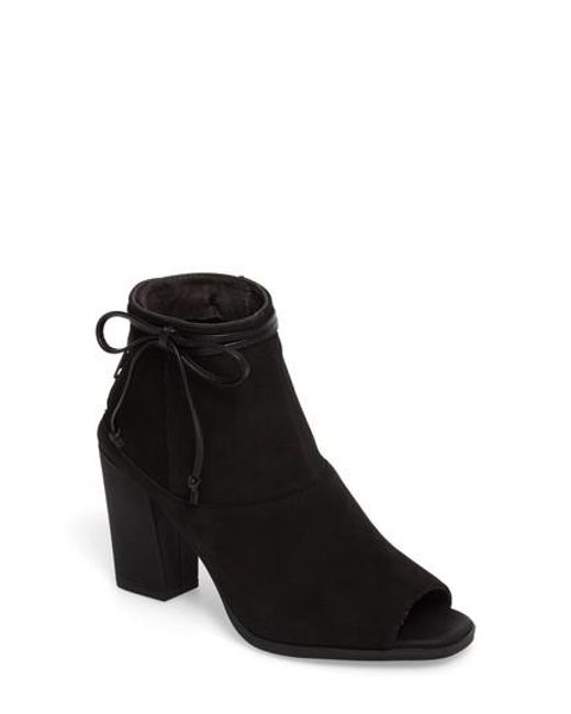 Seychelles | Black Triple Threat Open Toe Bootie | Lyst
