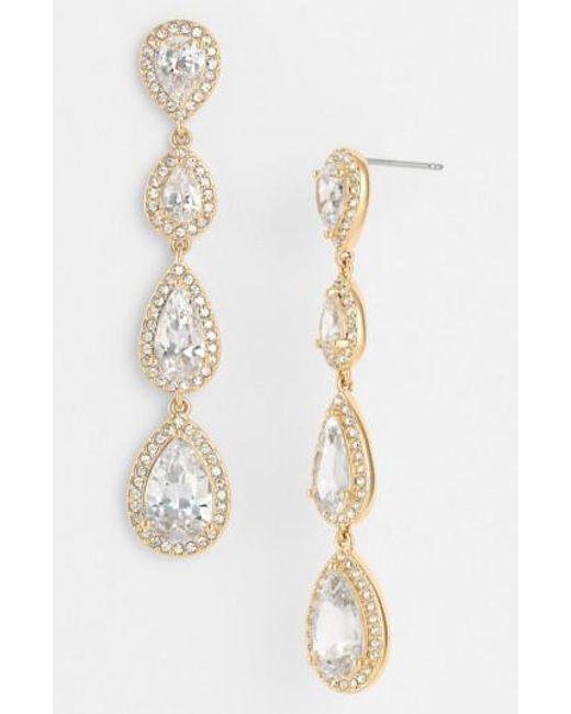 Nadri | Metallic Linear Earrings | Lyst