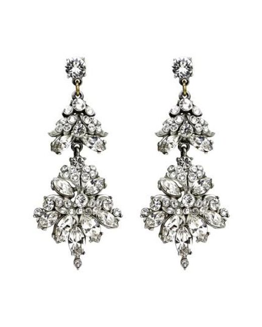 Ben-Amun | Metallic Crystal Statement Earrings | Lyst