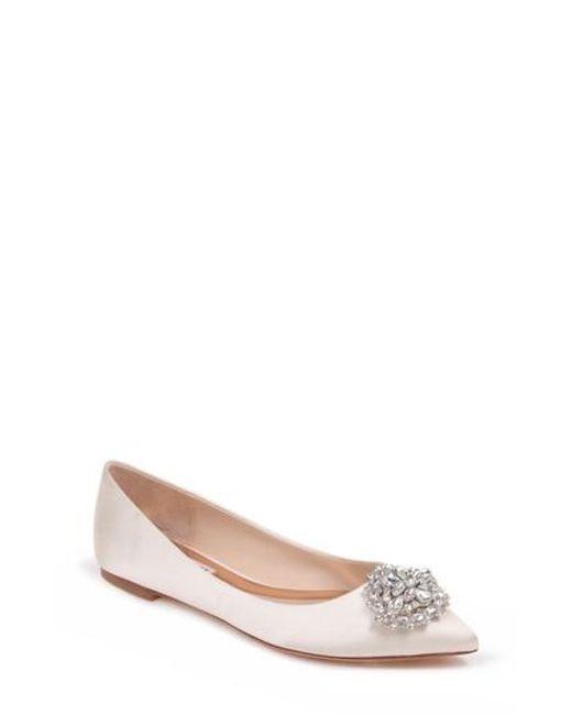 Badgley Mischka - Multicolor 'davis' Crystal Embellished Pointy Toe Flat - Lyst