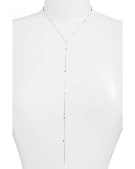 Argento Vivo | Metallic Mirror Station Lariat Necklace | Lyst