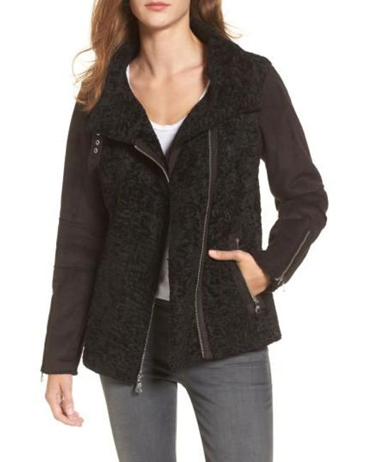 Vince Camuto | Black Faux Shearling Jacket | Lyst