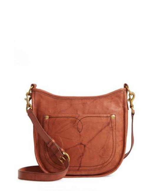 Frye | Brown Campus Rivet Leather Crossbody Bag | Lyst