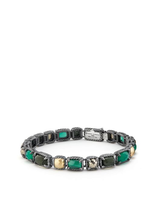 David Yurman - Multicolor Chatelaine Mosaic Tennis Bracelet With 18k Gold - Lyst