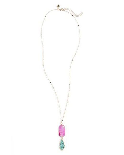 Panacea   Metallic Howlite Stone Pendant Necklace   Lyst