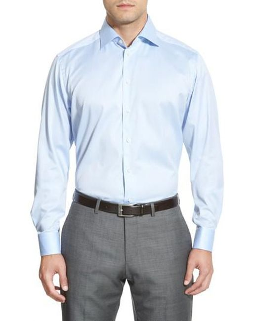 Eton of Sweden - Blue Contemporary Fit Solid Dress Shirt for Men - Lyst