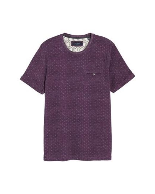 Ted Baker | Purple Giovani Modern Slim Fit Print T-shirt for Men | Lyst