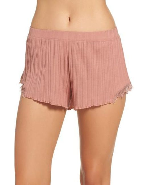 Skin   Pink Ribbed Shorts   Lyst