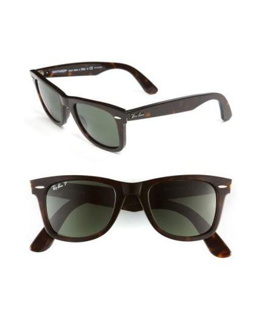 Ray-Ban - Black Standard Classic Wayfarer 50mm Polarized Sunglasses - Lyst