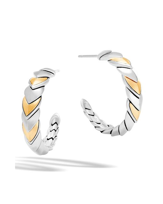 John Hardy - Metallic Legends Naga Hoop Earrings - Lyst