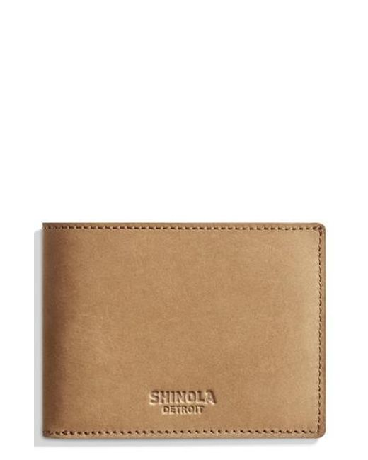 Shinola - Brown Outrigger Bifold Leather Wallet for Men - Lyst