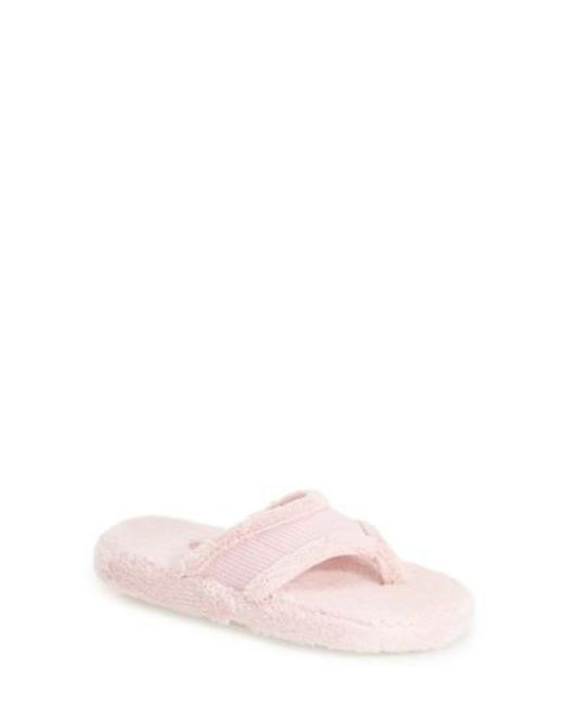 Acorn - Pink Waffle Spa Slippers - Lyst