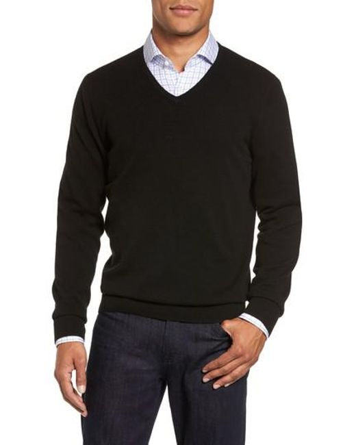 John W. Nordstrom | Black Cashmere V-neck Sweater (regular & Tall) for Men | Lyst