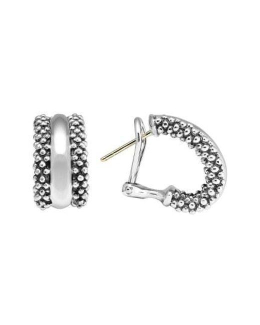 Lagos - Metallic Caviar(tm) Sterling Silver Hoop Earrings - Lyst