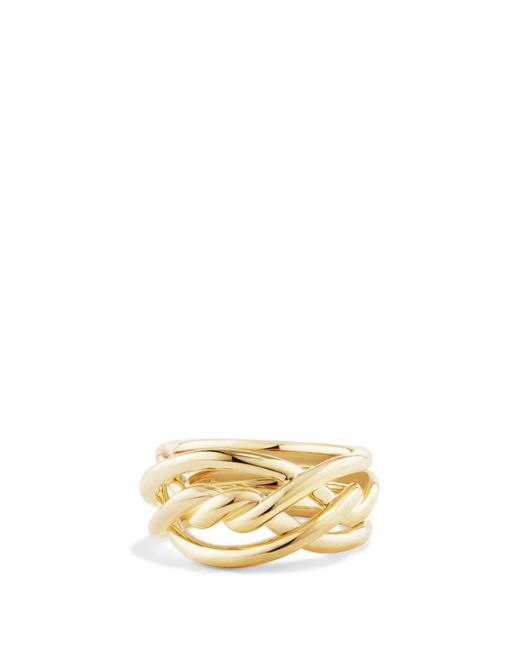 David Yurman - Metallic Continuance Ring In 18k Gold - Lyst