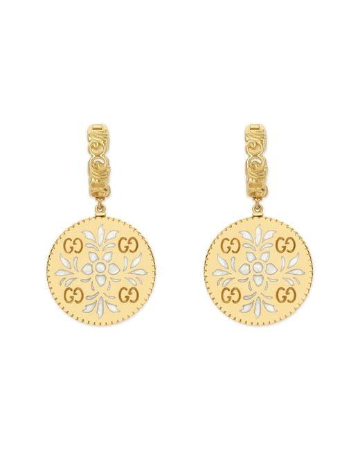Gucci - Metallic Icon Blooms Drop Earrings - Lyst