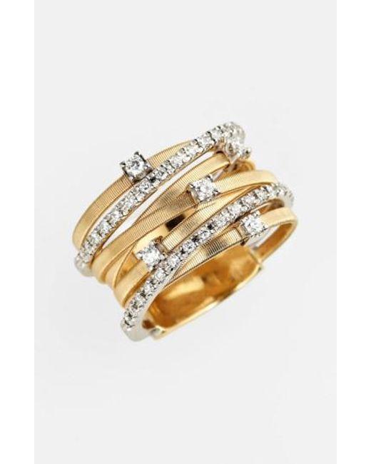 Marco Bicego | Metallic Goa Diamond Tri Tone Ring | Lyst