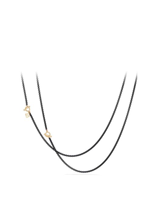 David Yurman - Metallic Dy Bel Aire Chain Necklace With 14k Gold Accents - Lyst