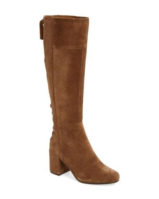 Very Volatile | Brown Wynter Lace Up Knee High Boot | Lyst