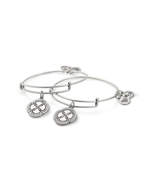 ALEX AND ANI - Metallic Infinite Connection 2-piece Bangle Bracelet Set - Lyst