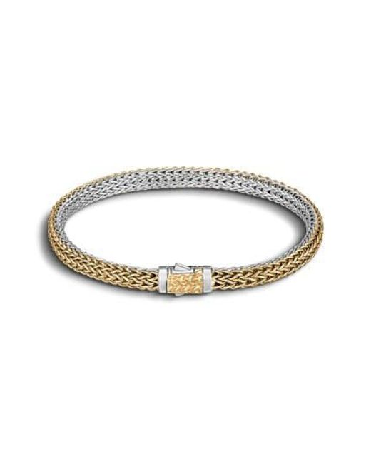John Hardy - Metallic 'classic Chain' Extra Small Reversible Bracelet - Lyst