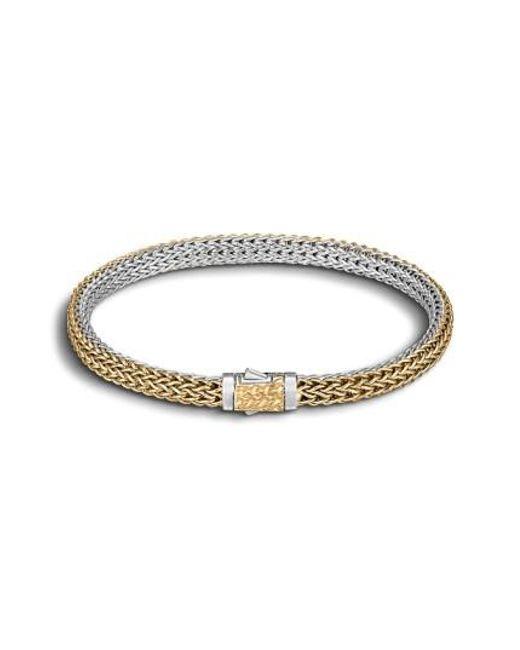 John Hardy | Metallic 'classic Chain' Extra Small Reversible Bracelet | Lyst