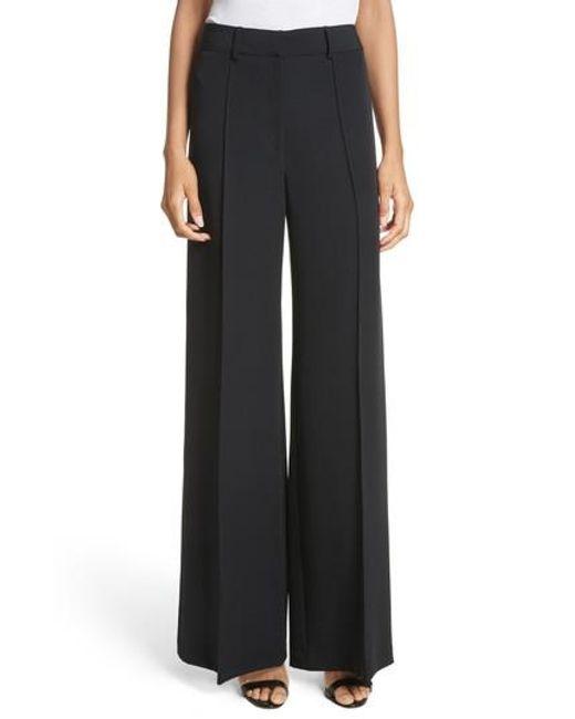 MILLY - Black 'hayden' Wide Leg Trousers - Lyst