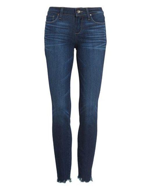 PAIGE - Blue Verdugo Transcend Vintage Ankle Skinny Jeans - Lyst