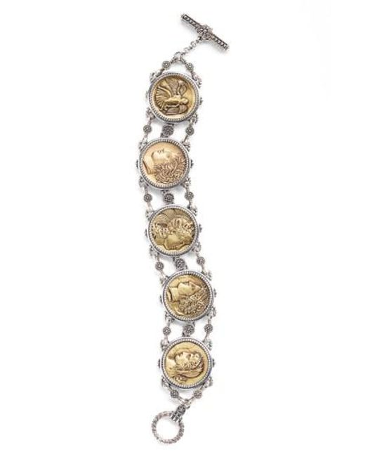 Konstantino | Metallic Coin Chain Bracelet | Lyst