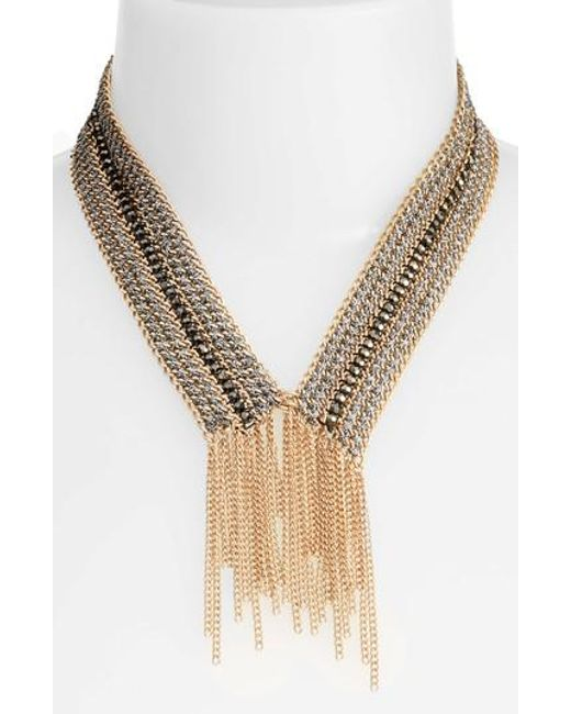 Treasure & Bond | Metallic Fringe Collar Necklace | Lyst