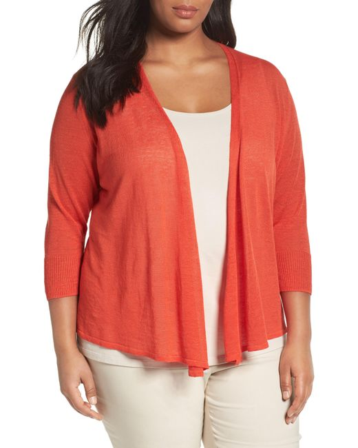 NIC+ZOE - Red Four-way Convertible Cardigan - Lyst