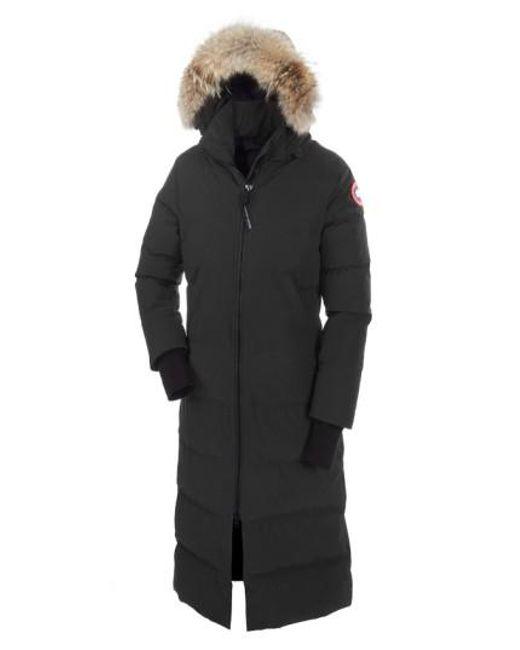 Canada Goose - Black 'mystique' Regular Fit Down Parka With Genuine Coyote Fur Trim - Lyst