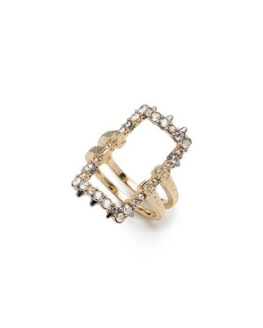Alexis Bittar   Metallic Elements Crystal Encrusted Ring   Lyst