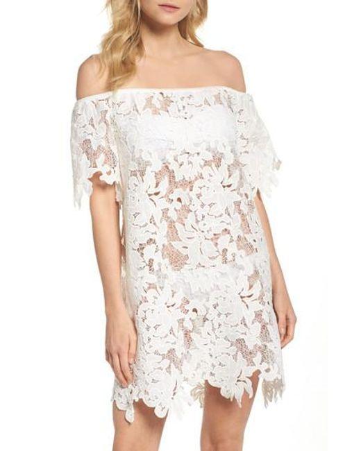 Muche Et Muchette - White Ode Rosette Lace Cover-up Dress - Lyst