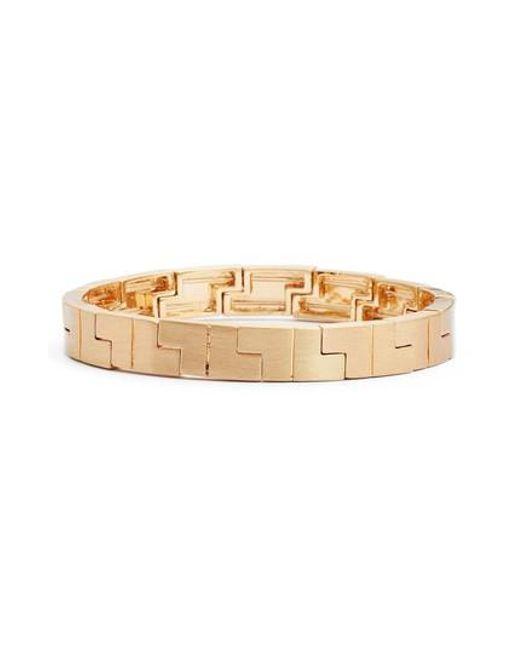 Rebecca Minkoff - Metallic Jigsaw Stretch Bracelet - Lyst