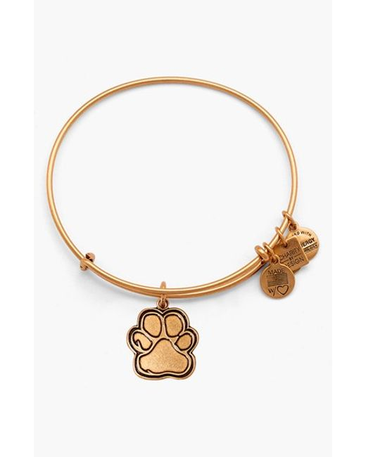 ALEX AND ANI | Metallic 'charity By Design - Prints Of Love' Expandable Wire Bangle | Lyst