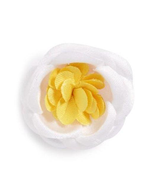 Hook + Albert | Yellow Lapel Flower for Men | Lyst