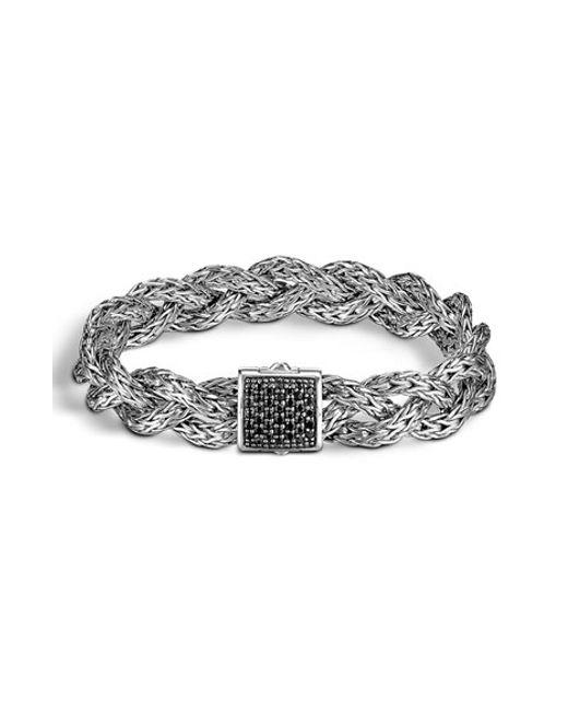 John Hardy | Metallic 'braided Chain' Semiprecious Stone Bracelet | Lyst