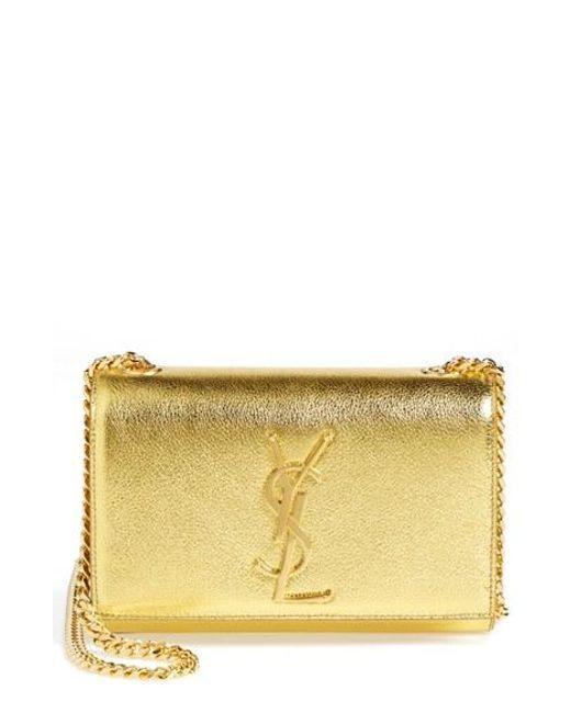 Saint Laurent | 'monogram' Small Chain Bag - Metallic | Lyst